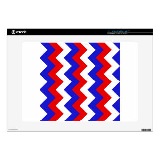 Zigzag I - White, Red and Blue Skins For Laptops