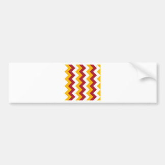 Zigzag I - White, Red and Orange Car Bumper Sticker