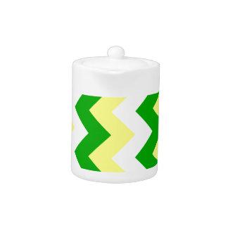 Zigzag I - White, Yellow and Green