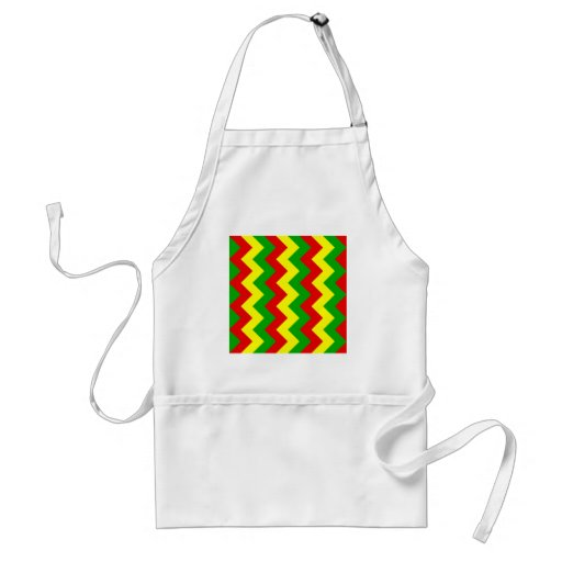 Zigzag I - Yellow, Green, Red Apron