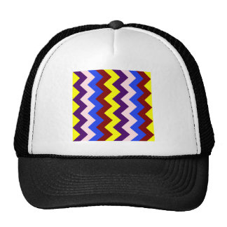 Zigzag I - Yellow, Red, Blue, Pink, Violet Trucker Hat