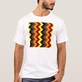 Zigzag I - Yellow, Red, Orange, Brown, Black. T-Shirt