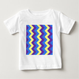 Zigzag I - Yellow, Violet, Blue Baby T-Shirt