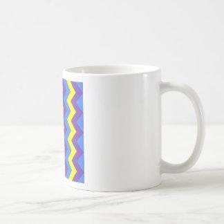 Zigzag I - Yellow, Violet, Blue Coffee Mug