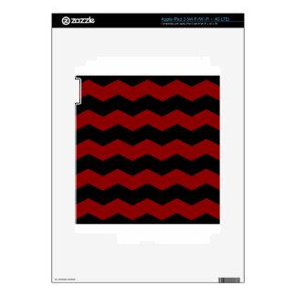 Zigzag II - Black and Dark Red iPad 3 Skin