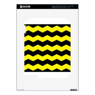 Zigzag II - Black and Lemon iPad 3 Decals