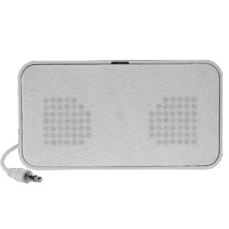 Zigzag II - Blanco y ámbar iPhone Altavoces