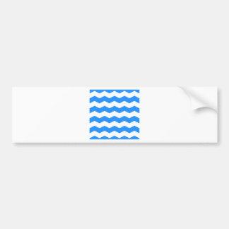 Zigzag II - Blanco y azul de Dodger Etiqueta De Parachoque