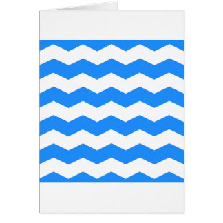 Zigzag II - Blanco y azul de Dodger Tarjetas