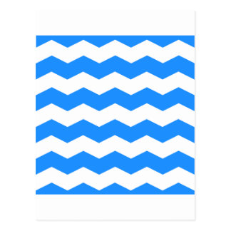 Zigzag II - Blanco y azul de Dodger Postal