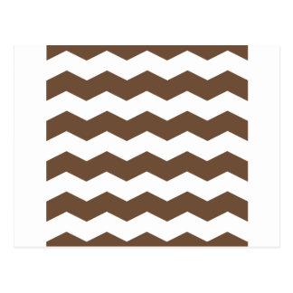 Zigzag II - Blanco y café Tarjetas Postales