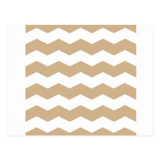 Zigzag II - Blanco y moreno Tarjetas Postales