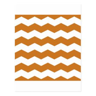 Zigzag II - Blanco y ocre Tarjetas Postales