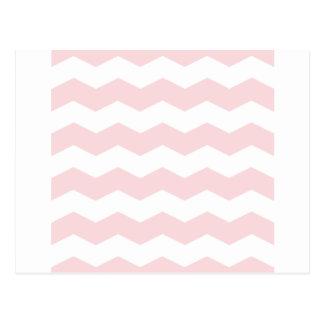 Zigzag II - Blanco y pálido - rosa Postal