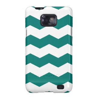 Zigzag II - Blanco y pino Gree Samsung Galaxy SII Carcasa