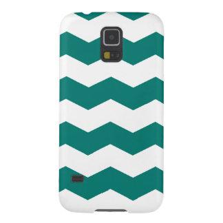 Zigzag II - Blanco y pino Gree Carcasa Para Galaxy S5