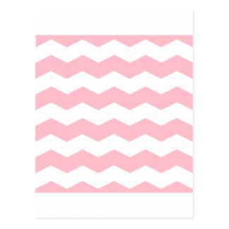 Zigzag II - Blanco y rosa Tarjetas Postales