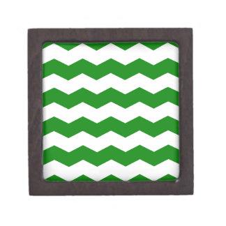 Zigzag II - Blanco y verde Caja De Regalo De Calidad