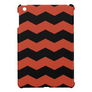 Zigzag II - Rojo en colores pastel negro y oscuro