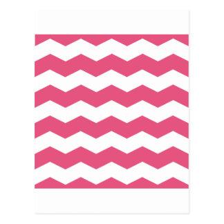 Zigzag II - Rosa blanco y oscuro Postales