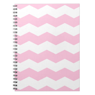 Zigzag II - White and Cotton Candy Note Book