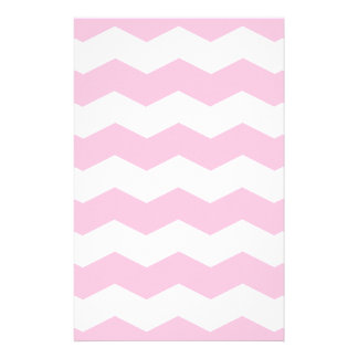 Zigzag II - White and Cotton Candy Stationery Paper