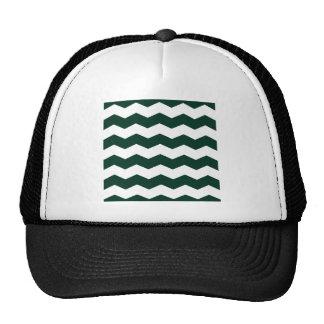 Zigzag II - White and Dark Green Trucker Hat