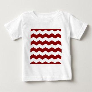 Zigzag II - White and Dark Red Baby T-Shirt