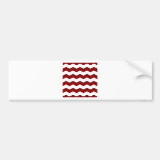 Zigzag II - White and Dark Red Bumper Stickers