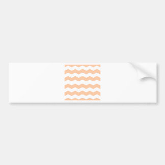 Zigzag II - White and Deep Peach Bumper Stickers