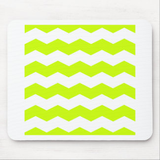 Zigzag II - White and Fluorescent Yellow Mousepads