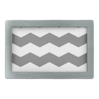 Zigzag II - White and Gray Belt Buckles