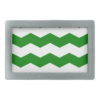Zigzag II - White and Green Belt Buckle
