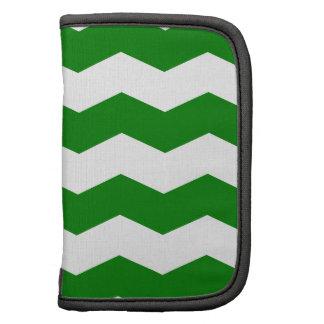 Zigzag II - White and Green Folio Planners