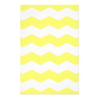 Zigzag II - White and Lemon Personalized Stationery