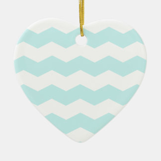 Zigzag II - White and Pale Blue Ornaments
