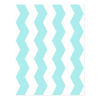 Zigzag II - White and Pale Blue Postcard
