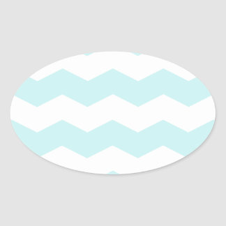 Zigzag II - White and Pale Blue Sticker