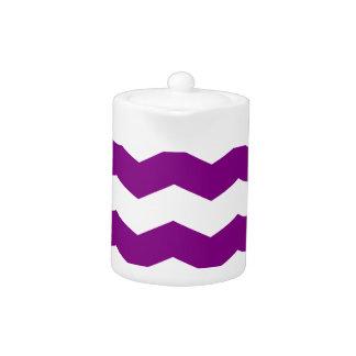 Zigzag II - White and Purple