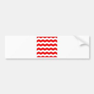Zigzag II - White and Red Bumper Sticker
