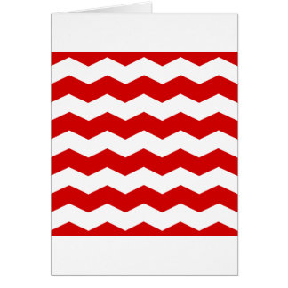Zigzag II - White and Rosso Corsa Cards