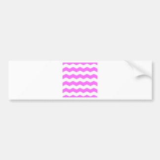 Zigzag II - White and Ultra Pink Bumper Stickers