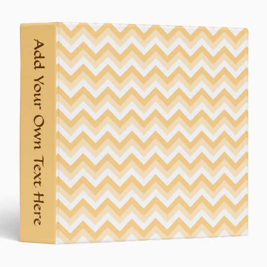 Zigzag in warm tan, beige and white. 3 ring binder