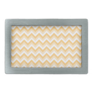 Zigzag in warm tan, beige and white. belt buckles