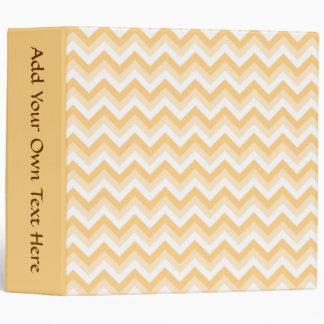 Zigzag in warm tan, beige and white. vinyl binder