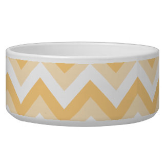 Zigzag in warm tan, beige and white. bowl