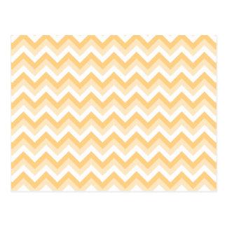 Zigzag in warm tan, beige and white. postcard