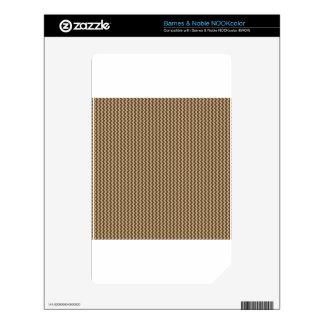 Zigzag - Khaki and Dark Brown NOOK Color Decals