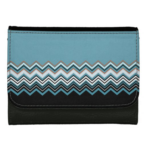zigzag leather wallets