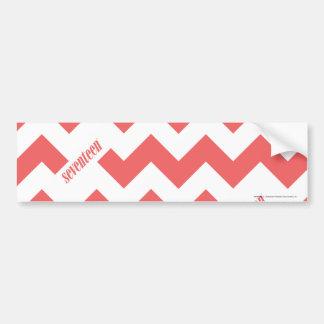 ZigZag LtPink Bumper Sticker